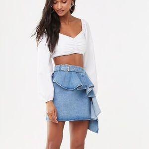 Forever 21 Ruffle Denim Skirt  — Sold Out